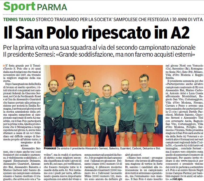 Articoli Gazzetta 2016-2017