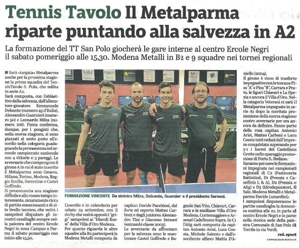 Articoli Gazzetta 2018-2019