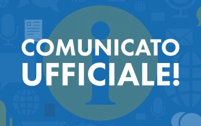 Comunicato ufficiale riguardo lo svolgimento delle attività