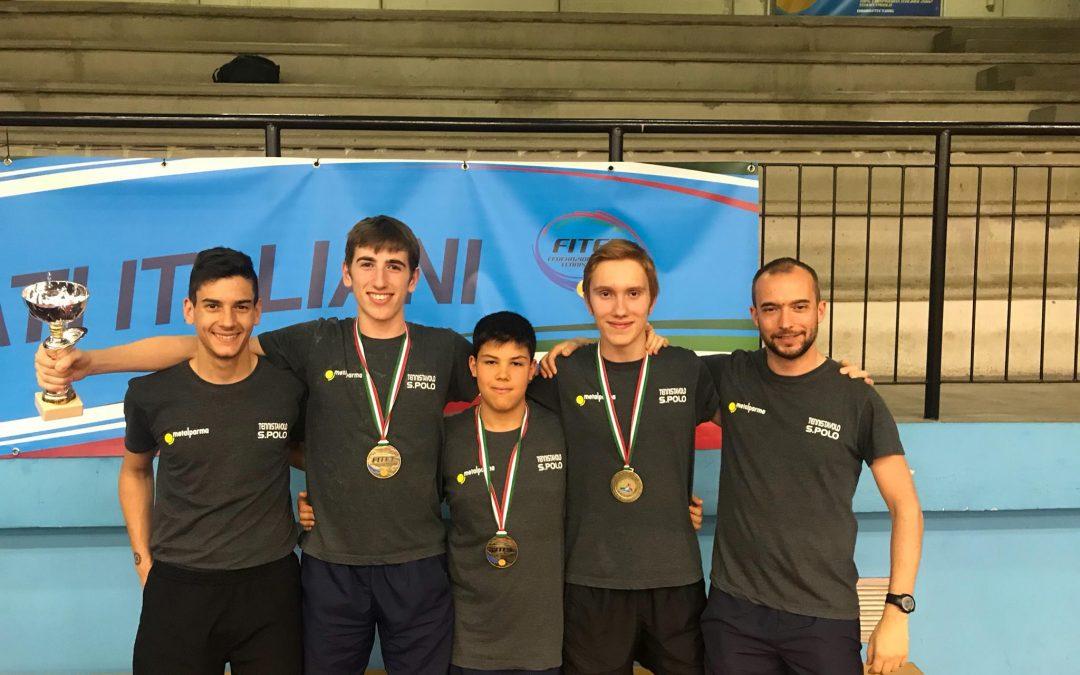Storico Bronzo della Squadra Allievi ai Campionati Italiani Giovanili