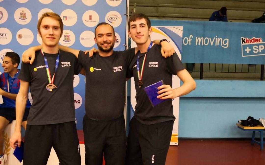 Sernesi e Tini Bronzo nel Doppio Juniores ai Campionati Italiani Giovanili di Terni