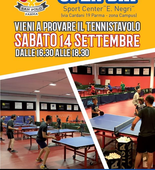 OPEN DAY sabato 14 settembre!